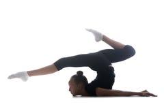 Girl doing art gymnastics Royalty Free Stock Image