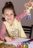 Girl Doing Craft Stock Images