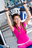 Girl doing exercise Stock Photography