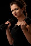 Girl doing exercise Royalty Free Stock Photography
