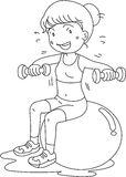 A Girl Doing Exercise Stock Image