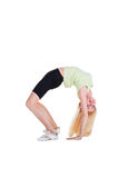 Girl doing exercise bridge Royalty Free Stock Image