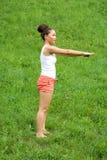 Girl doing exercises Stock Image