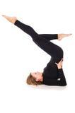 Girl doing exercises isolated on white background Stock Photo
