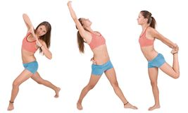 Girl doing fitness excersises Royalty Free Stock Image