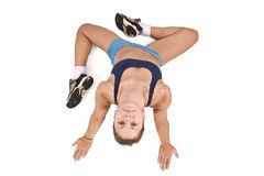 Girl doing fitness excersises Stock Image