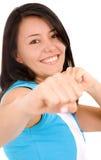 Girl doing fitness exercises Stock Photo