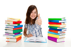 Girl doing homework Royalty Free Stock Images