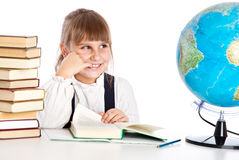 Girl is doing homework Royalty Free Stock Photo