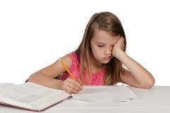 Girl Doing Homework Stock Images