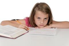 Girl Doing Homework Royalty Free Stock Image