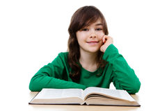 Girl doing homework Stock Photos