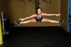 Girl Doing Jump Split Royalty Free Stock Photo