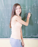 Girl doing maths Royalty Free Stock Photos