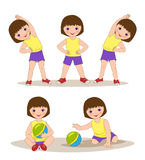 girl doing morning exercises Royalty Free Stock Photography