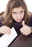 Girl doing ok sign Stock Photography