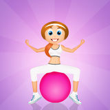 Girl doing pilates. Illustration of girl doing pilates Stock Image