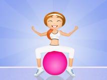 Girl doing pilates Stock Images
