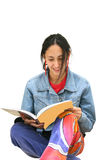 Girl doing revision Royalty Free Stock Photos