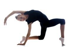 Girl doing rhythmic gymnastics Stock Image