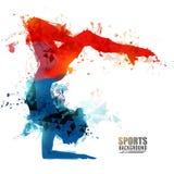 Girl doing Rhythmic Gymnastics with Hoop. Royalty Free Stock Photography
