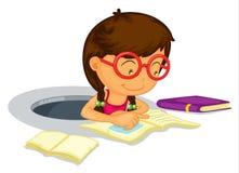 Girl doing schoolwork Stock Photos