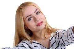 Girl doing selfie Royalty Free Stock Photo