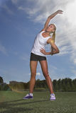 girl doing sport exercises Royalty Free Stock Image