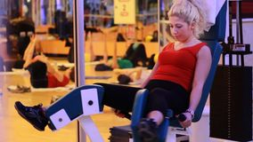 girl doing sports in a gym 8 Stock Photos