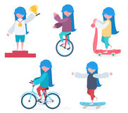 A girl doing sports Stock Images
