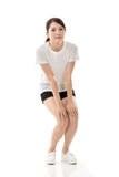 Girl doing stretch exercise Royalty Free Stock Photography