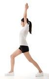 Girl doing stretch exercise Stock Photos