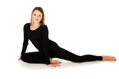 Girl doing stretching Stock Photos
