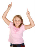 Girl doing the winners dance Royalty Free Stock Images