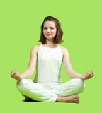 Girl doing yoga Royalty Free Stock Photography