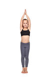 Girl doing yoga exercise Royalty Free Stock Image