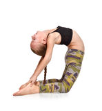 Girl doing yoga exercise Royalty Free Stock Images