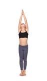 Girl doing yoga exercises Royalty Free Stock Image
