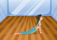 A girl doing yoga Royalty Free Stock Photos