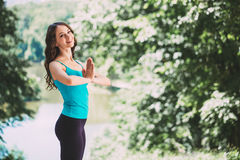 Girl doing yoga. Stock Image