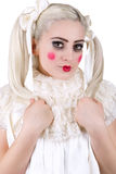 Girl with dolly makeup Royalty Free Stock Photos