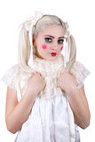 Girl with dolly makeup Royalty Free Stock Photography
