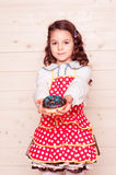 Girl with donut Stock Photo