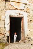 Girl in Doorway Royalty Free Stock Photos