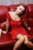 Girl in dotted dress Stock Photo