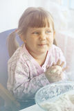 Girl with the dough Royalty Free Stock Photography