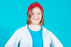 Girl Down syndrome royalty free stock image