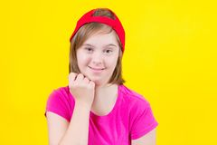 Girl Down syndrome stock photography