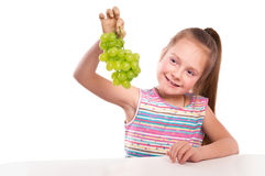 Girl with drape-vine Stock Images