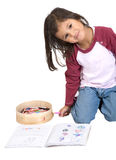 Girl drawing on her notebook Royalty Free Stock Photography